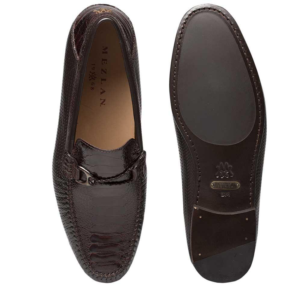 NEW Mezlan Genuine Ostrich Leather Dress Loafer Moccasin Exotic shoes Brown Vesta