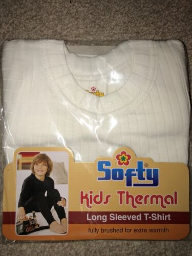 SOFTY® 1 or 2X Children Kids Thermal Underwear SHORT Sleeve LONG JOHN Top Warm