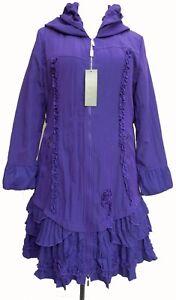 French-Lagenlook-Purple-Fleece-Lined-Coat-SIZE-22