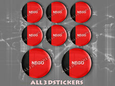 8 x 3D ROUND Stickers Resin Domed Flag Paraíba - Adhesive Decal Vinyl