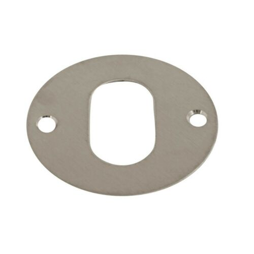 Escutcheon Plate Key Hole Cover Covered Plates Door Lock Stainless Steel 55mm