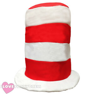 afd5f8cc48119 TALL RED AND WHITE STRIPED HAT SCHOOL BOOK WEEK TV FILM CHARACTER ...