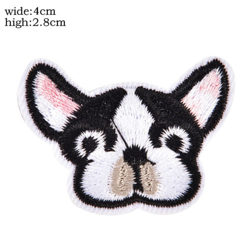 6Pcs Dog Embroidered Patch Iron On Sewing Applique Badge ClothesStickersCraftLD