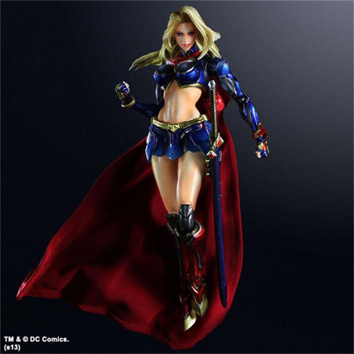 Square enix spielen kunst kai dc comics no.7 supergirl pvc - action - figur