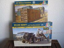 M1120 HEMTT Load Handling System mit Container von Italeri im Maßstab 1:35 *NEU*