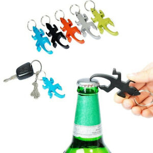 Creative-Lizard-Shape-Alloy-Bottle-Opener-Keyring-Keychain-Multifunction-b
