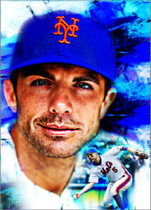 2021-David-Wright-New-York-Mets-7-25-Art-Blue-ACEO-Print-Card-By-Q