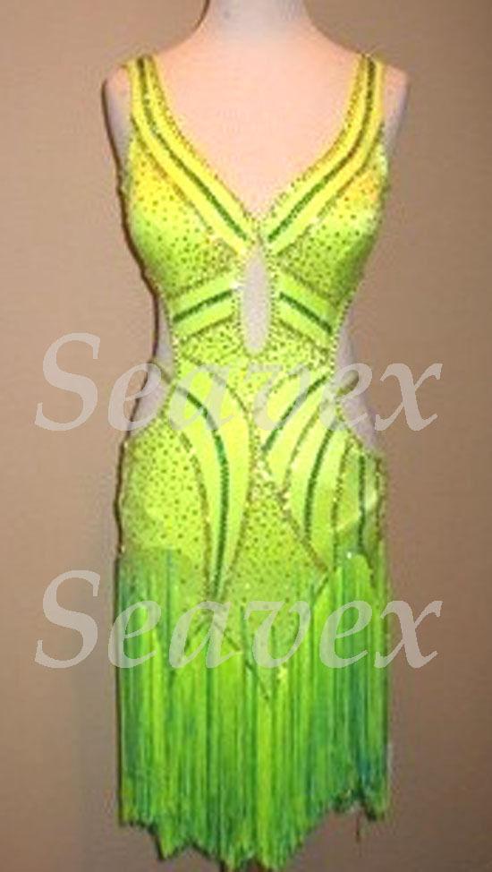 Vestito di ritmo latino salsa danza abito US 6  Slive verde brillante  tutti i prodotti ottengono fino al 34% di sconto