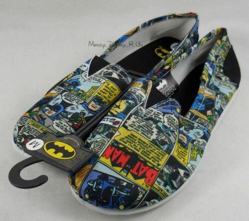 Comic Flats L Scarpe Batman Slip Comics Nuovo Taglia donna da Canvas Dc on Strip YxEwv5Rqq7