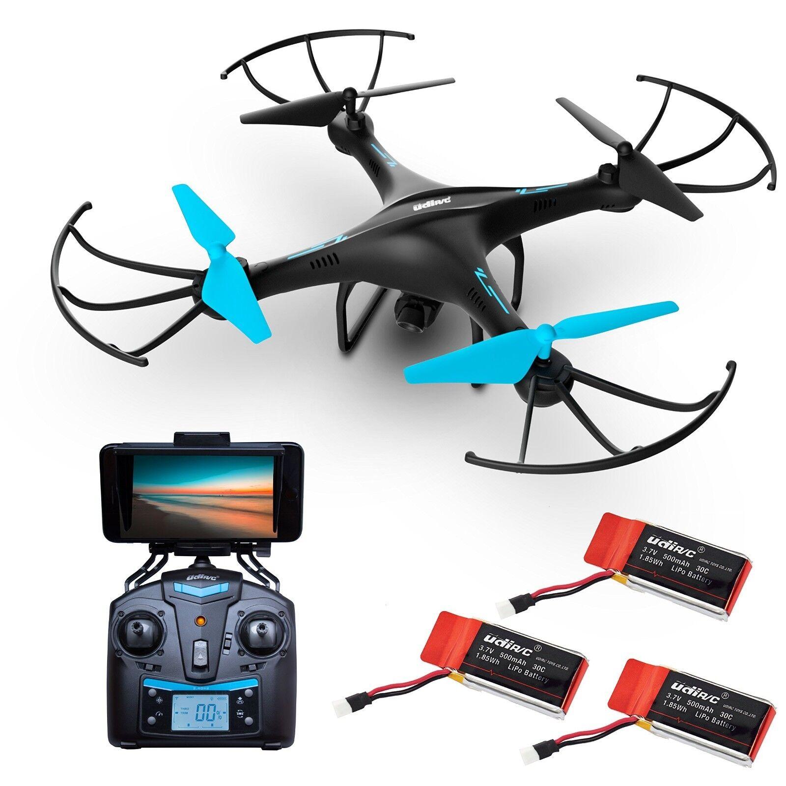 U45WF WiFi FPV Droner med Kamera för vuxna och barn 3 RC Drone Batterier