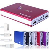 Power Bank 30000 mAh Zusatzakku mobiles Ladegerät USB External Battery Akku Rot