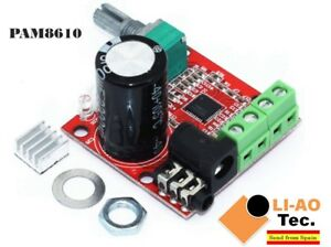 12V-Mini-Hi-Fi-PAM8610-Audio-Stereo-Amplifier-Board-2X10W-Dual-Channel-D-Class