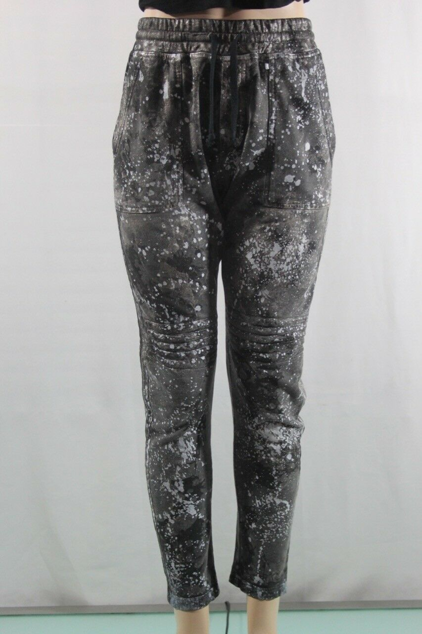 New Women's Robin's Jean pants in paint-splatter Moto Jeans SZ S made USA