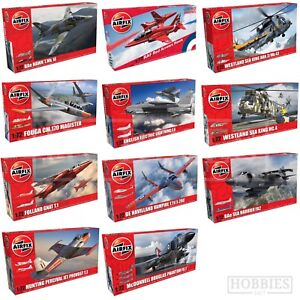 Airfix-1-72-Model-Kits-Aircraft-Planes-Red-Arrows-Hawk-Folland-Fouga-Provost-Jet