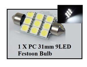 31mm-9-LED-Festoon-Light-Bulb-White-Car-Interior-Roof-Globe-Glove-Box