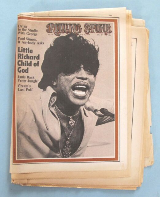 VINTAGE - ROLLING STONE MAGAZINE - No. 59 - MAY  28, 1970 - LITTLE RICHARD