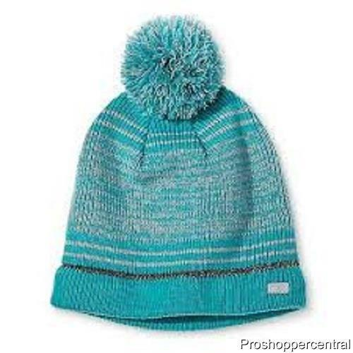 One Size Fits Most Teal Blue and Gray Champion C9 Girls/' Pom Beanie Hat