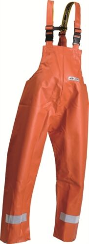 NorthSea Fischer-Latzhose fisher bib trousers Ölzeug Gummi orange