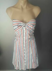 Cooper-St-Nautical-Dress-Size-8-strapless