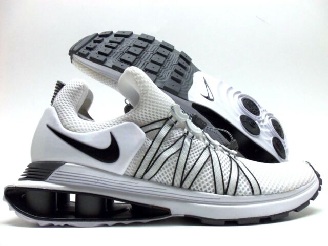 7897c187d1f8 Nike Womens Shox Gravity White Black Running Shoes Sz 10 for sale ...