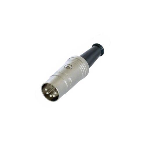 Spina DIN presa-in metallo 3//5//7-Pol diodi spina argentata Neutrik//Rean