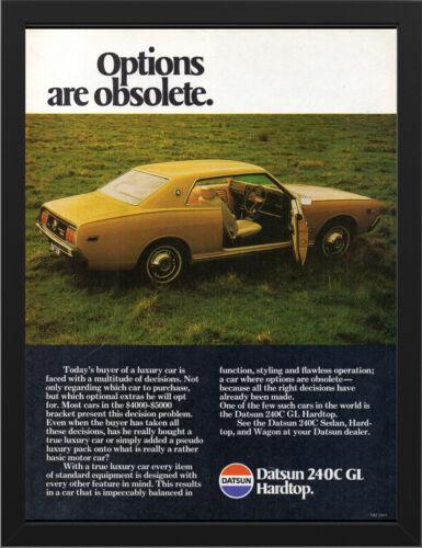 "1971 NISSAN DATSUN 240C GL HARDTOP AD A3 FRAMED PHOTOGRAPHIC PRINT 15.7""x11.8"""