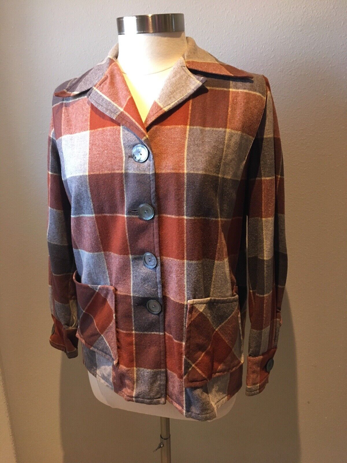 Knockabouts by Pendleton Wool Heritage Coat Women/'s Large