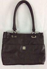 PIAZZA Women's Handbag Purse Satchel Chocolate Brown Leather NEW, BEAUTIFUL!