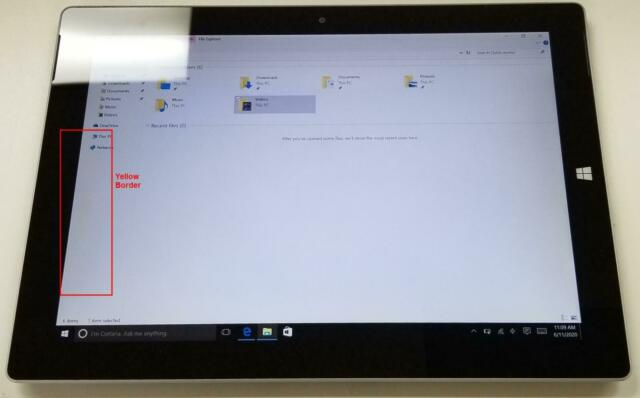 """Microsoft Surface 3 128GB Wi-Fi 10.8"""" Silver 1645 See Pictures"""