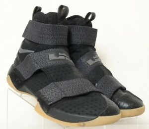 new style 48839 750e8 Image is loading Nike-917338-LeBron-Soldier-10-FlyEase-Blk-Gray-