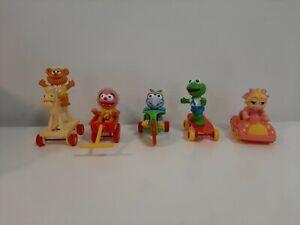 Vintage-1986-McDonald-039-s-Happy-Meal-Toys-Complete-Set-of-5-Muppet-Babies