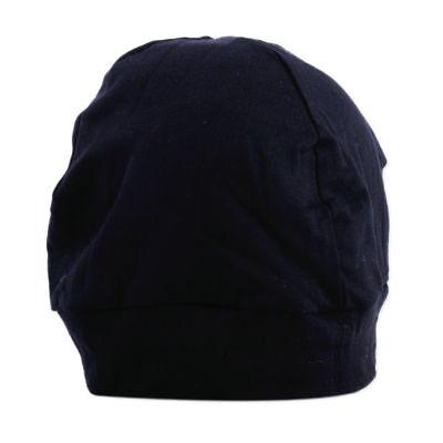 Damen Herren Strickmütze Baumwolle Mütze Schwarz Streifen Beanie Schlafmütze Cap