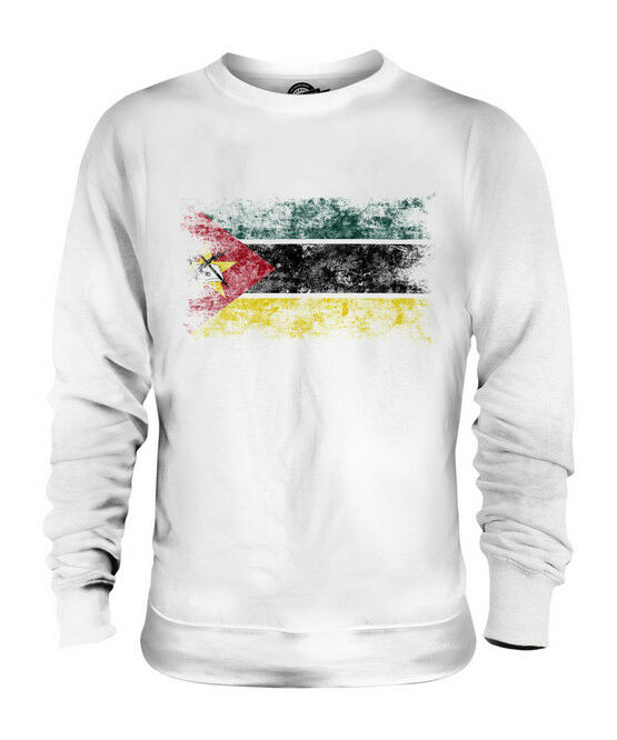 MOZAMBIQUE DISTRESSED FLAG UNISEX SWEATER TOP FOOTBALL MOZAMBICAN SHIRT