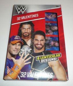 Wwe Childrens 32 Valentines For Kids School Valentines Day Cards