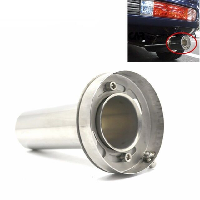 Stainless Steel Chrome Car Tail Rear Round Exhaust Muffler Pipe Tip Universal XS