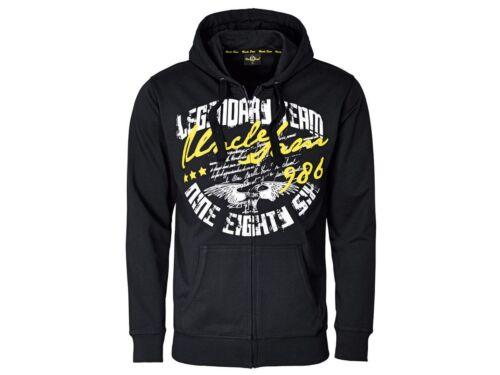 Uncle Sam Hommes Sweatjacke Pullover Pull Veste Sweat Shirt Neuf z15