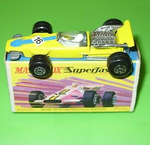 MATCHBOX SUPERFAST NO.34A F-1 RACING CAR CUSTOM REPLACEMENT DISPLAY BOX ONLY