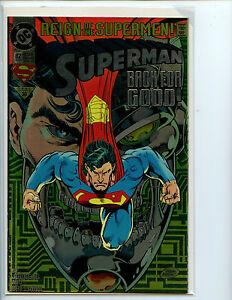 Superman Back For Good 82 Nm Chromium Foil Cover 1993 Dc Comics L2 Ebay
