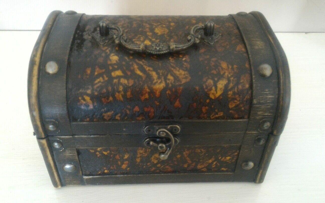 Coffret Encadré Box Vesper Canette valise coffre à trésor en bois et métal 60er