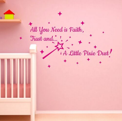 Pixie Dust Wall Sticker Quote Art Bedroom Colour Choose Home Decorations Room