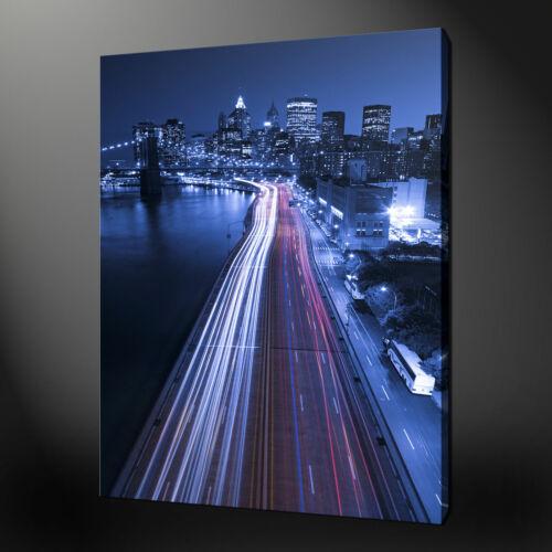 CITY LIGHTS CANVAS PRINT WALL DESIGN READY TO HANG