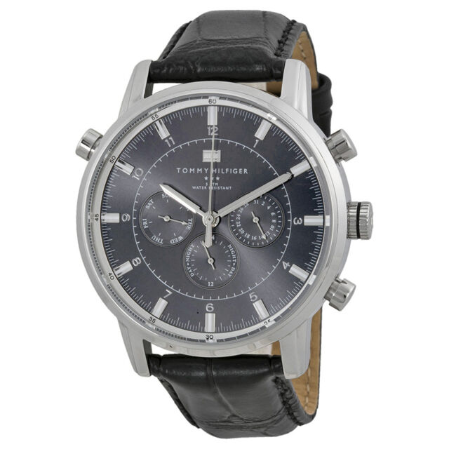 Tommy Hilfiger GMT Grey Dial Stainless Steel Mens Watch 1790875