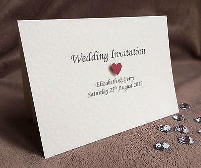 50 X Personalizzata Handmade Wedding Day & Sera Inviti & Buste-mostra Il Titolo Originale Alleviare Il Calore E La Sete.