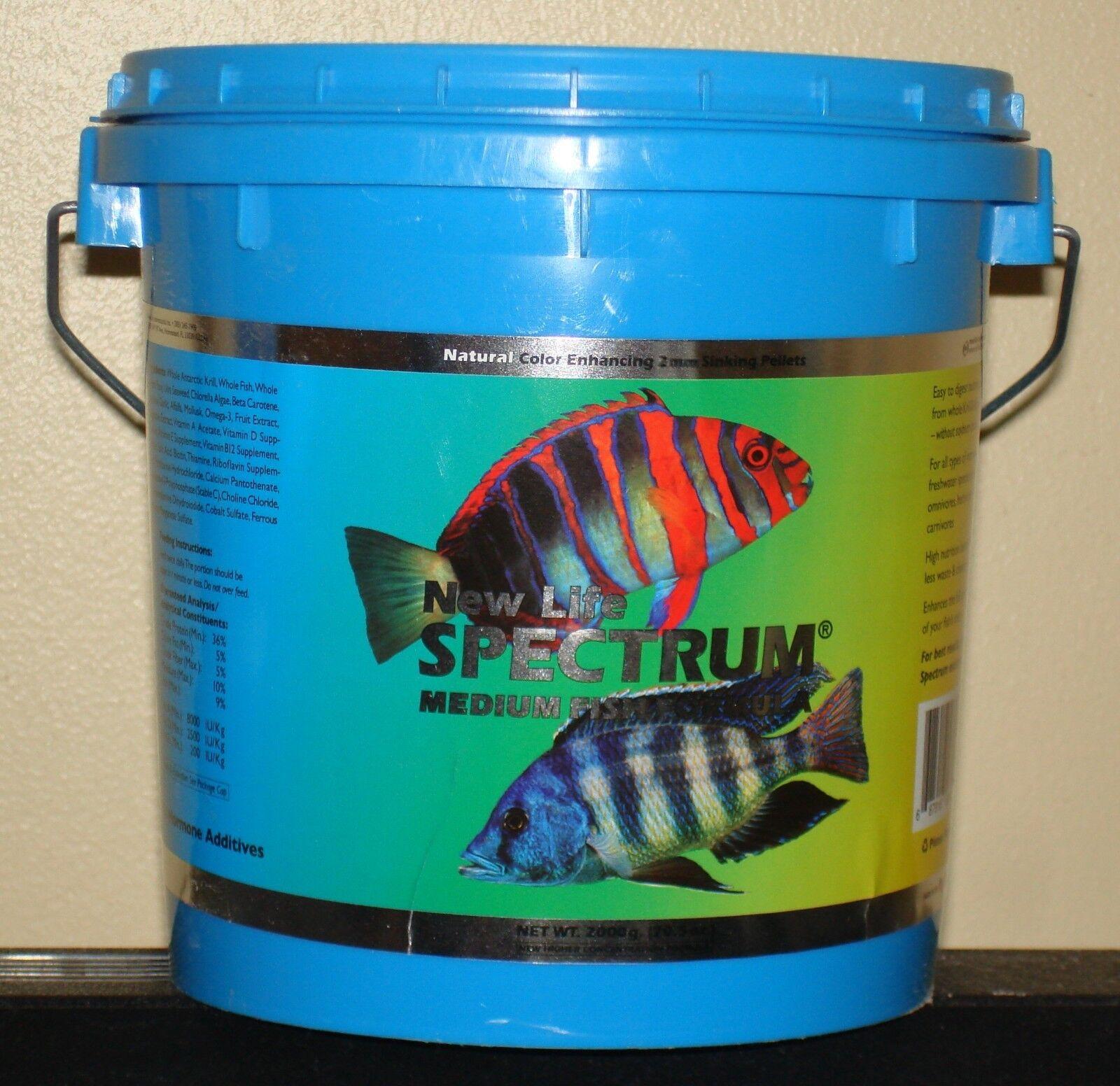 NEW LIFE SPECTRUM MEDIUM FISH FOOD  2000 gm  2 mm sinking pellets  NLS