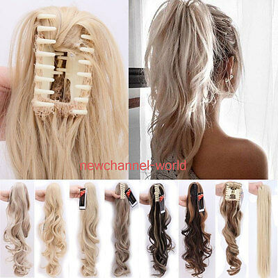 Clip on extensions ponytail