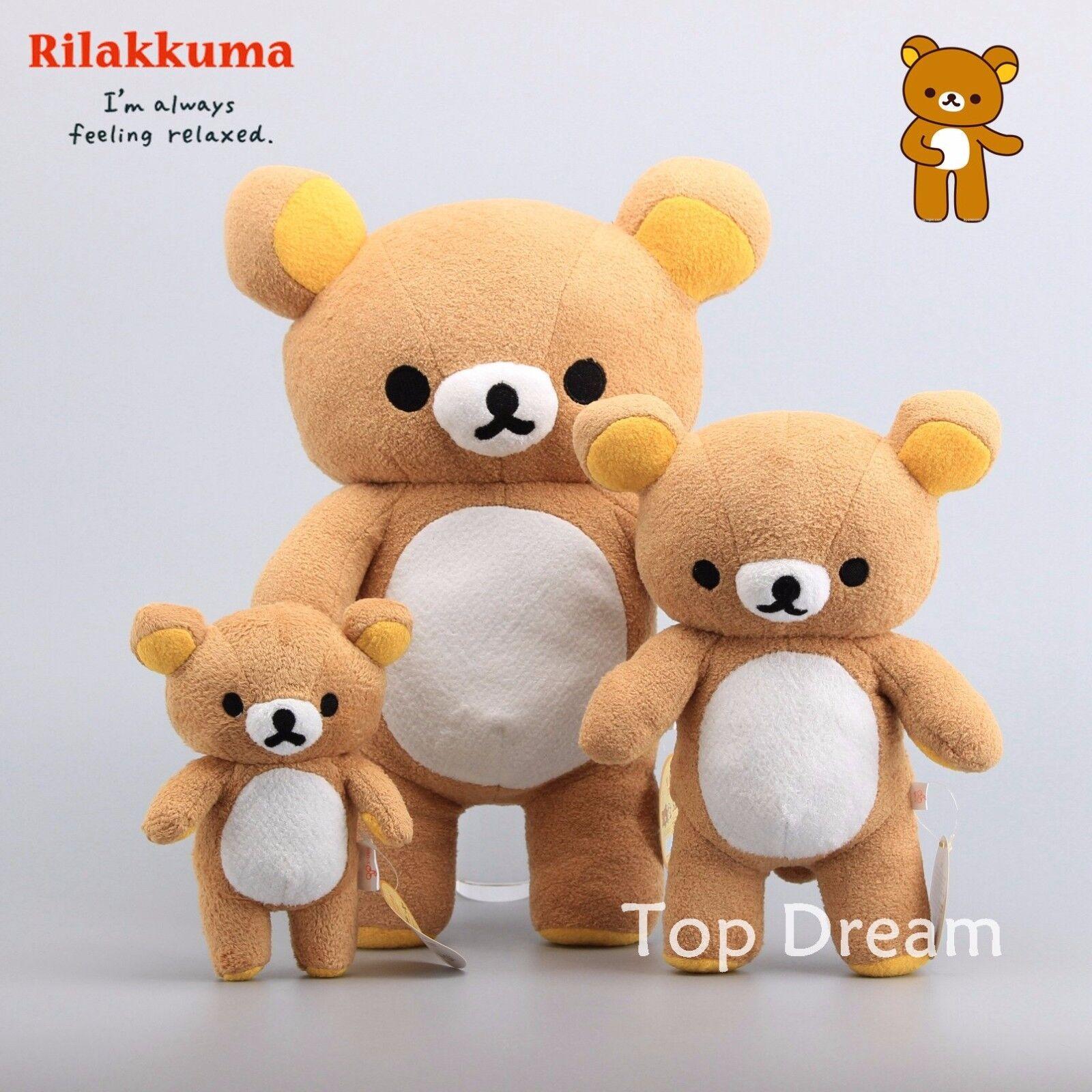 Kawaii Rilakkuma Relax Bear Plush leksak mjuk Stuffing djur Pillåg Doll Teddy
