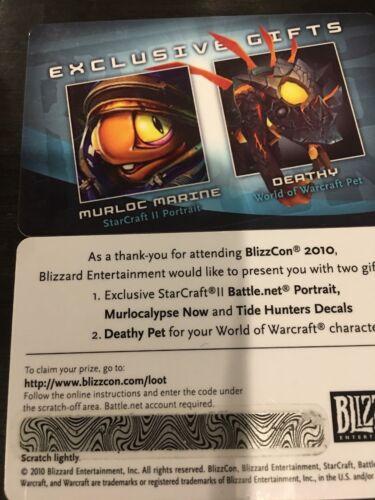 BLIZZCON 2010 WoW WORLD OF WARCRAFT Deathy PET LOOT CARD Smoldering Murloc Egg