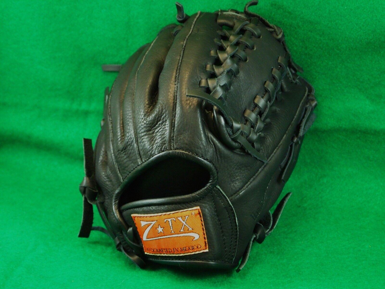Guante de béisbol (1085) Modelo Z-TX 11.25  De Cuero Negro