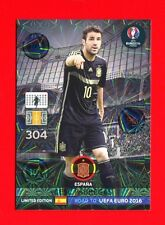 ROAD TO EURO FRANCE 2016 - Adrenalyn Panini Card Limited - FABREGAS - ESPANA
