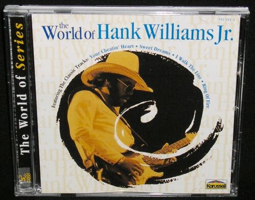 1 of 1 - HANK WILLIAMS JR. - THE WORLD OF - GREAT 20 TRACK COLLECTION/HITS + RARITIES/EX+